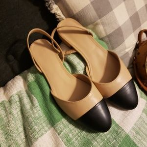 Forever 21 Shoes - Forever 21 Beige and Black Flats